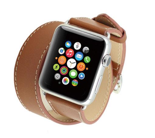 náramok pre apple watch hnedý