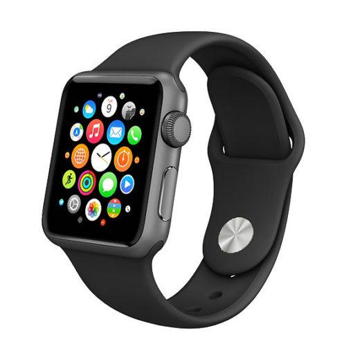 Čierny silikónový náramok Apple Watch
