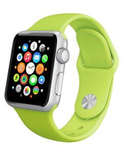 Zelený silikónový náramok Apple Watch