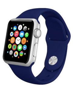 Modrý silikónový náramok Apple Watch