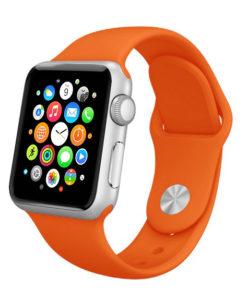 Oranžový silikónový náramok Apple Watch
