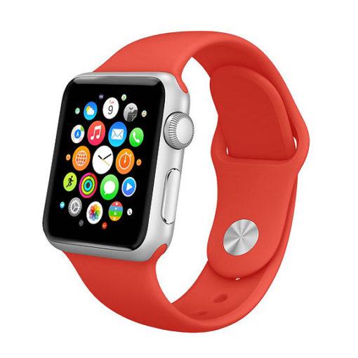Červený silikónový náramok Apple Watch