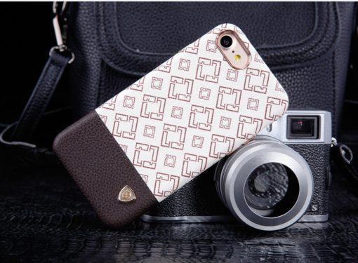 Obal na iPhone 7 biely kožený poťah