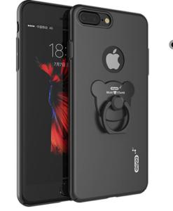 Obal na iPhone 7 z oceľovým úchytom čierny