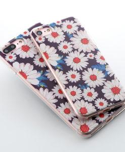 Silikónový obal na iPhone 7 Potlač - Daisy