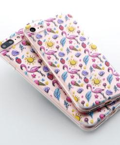 Silikónový obal na iPhone 7 Potlač - Flamingo summer