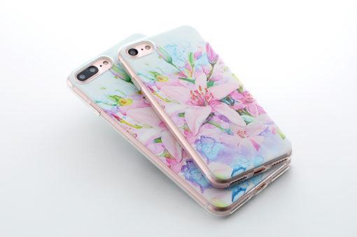 Silikónový obal na iPhone 7 Potlač - Flowers