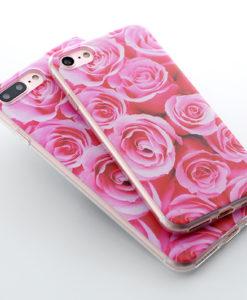 Silikónový obal na iPhone 7 Potlač - Roses