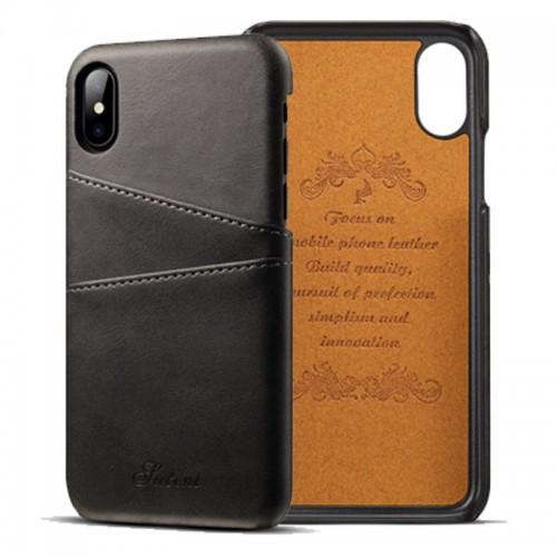 Kožený Obal pre iPhone X-Black