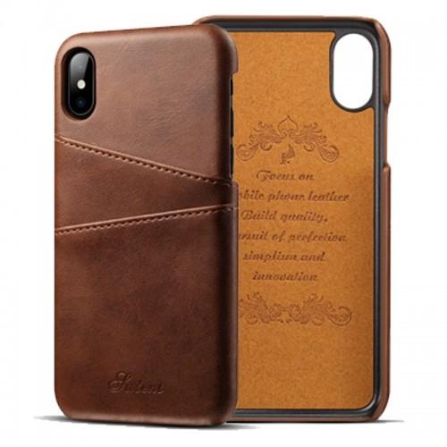 Kožený Obal pre iPhone X-Brown
