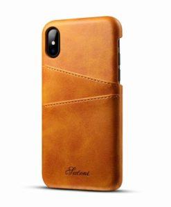 Kožený Obal pre iPhone X-Orange