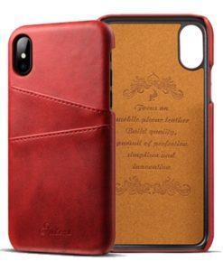 Kožený Obal pre iPhone X-Red