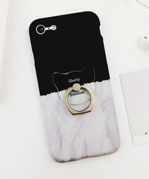 Obal na iPhone s oceľovým prsteňom