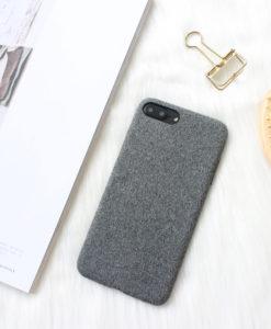 Čierny látkový obal na iPhone 8 a 8 Plus