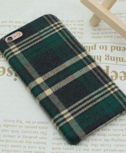 Obal na iPhone 8 látkový poťah - Olive green