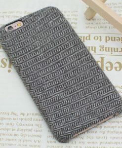 Obal na iPhone 8 látkový poťah - Dark grey