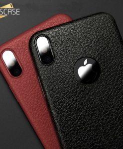 Kožený obal na iPhone X - V dvoch farbách