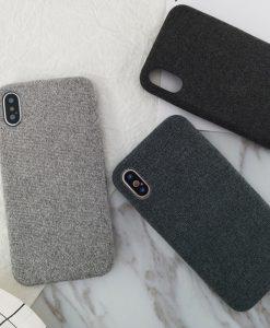 Plyšový obal na iPhone X -